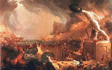 painting of rome burning