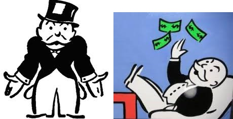 monopoly man with and without money