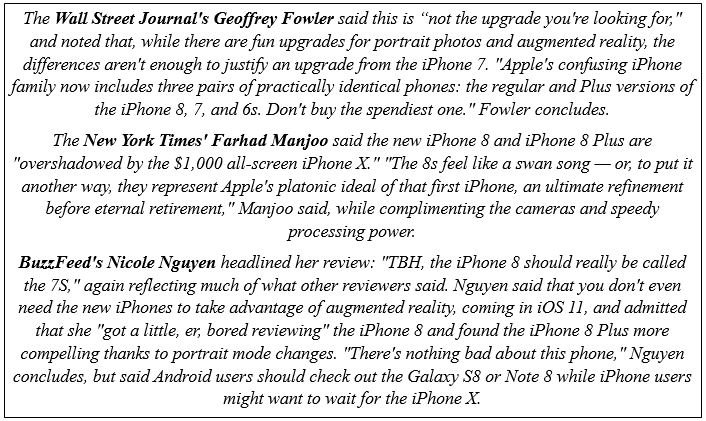 Quotes about Apple's latest release.JPG