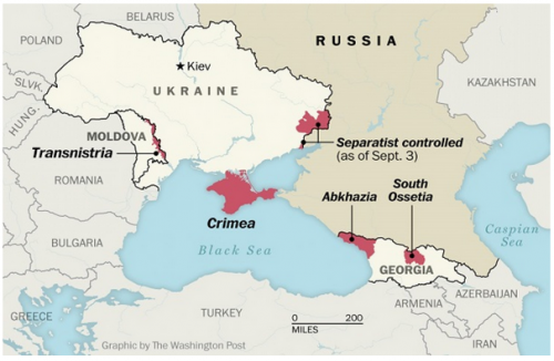 Ukraine and Crimea separatist map