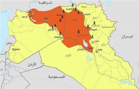 map of isis