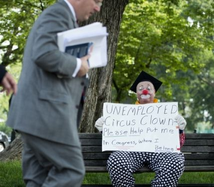 clown asks to join congress