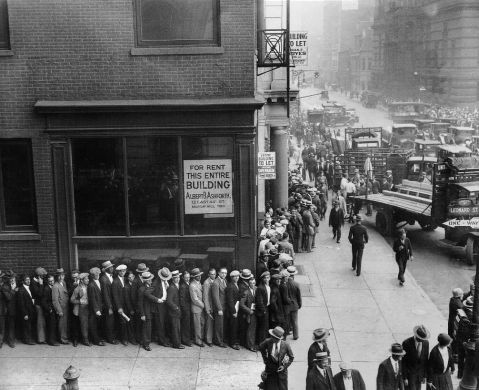 jobless line in great depression