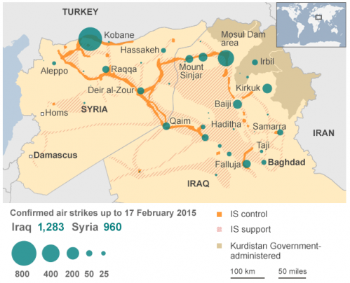 air strikes on ISIS and ISIL in Iraq and Syria