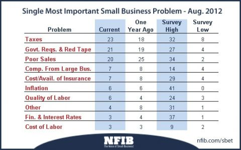 poll of most important small business problems